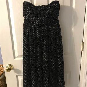 J Crew Strapless polka dot Silk Dress
